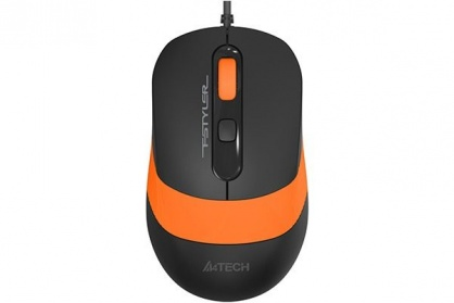 Mouse USB optic A4Tech Fstyler Negru/Orange, FM10 Orange