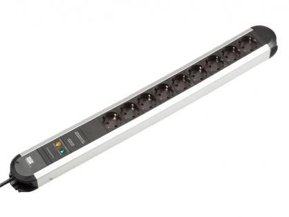 Prelungitor cu protectie PRIMO cu 9 x Schuko aluminiu 1.75m, Bachmann 331.007