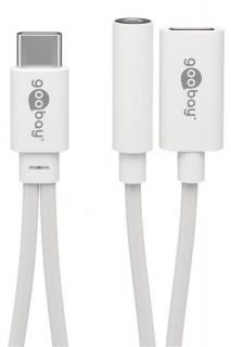 Adaptor audio USB-C la jack 3.5mm + alimentare USB-C (HTC, OnePlus, Xiaomi, LG, Sony, Huawei), Goobay 39944