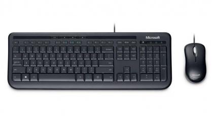 Kit tastatura + mouse Microsoft Wired Desktop 600 for business Negru
