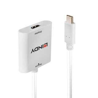 Adaptor USB 3.1-C la HDMI 4K@60Hz T-M Alb, Lindy L43247
