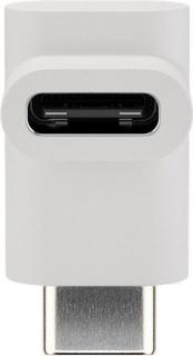 Adaptor USB-C 3.1 unghi 90 grade T-M Alb, Goobay 55557