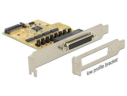 PCI Express cu 4 x Serial RS232 cu voltage supply, Delock 89447