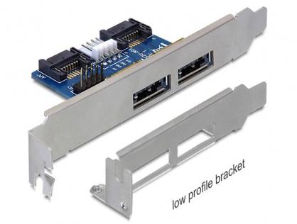 Slot bracket 2x eSATApd 5V/12V, Delock 61725