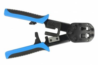 Set Cleste de sertizat RJ45 / RJ12 + accesorii Crimp+Cut, Delock 86450