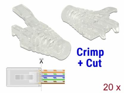 Set 20 bucati mansoane RJ45 Crimp+Cut, Delock 86455