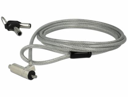 Cablu de securitate notebook cu cheie pentru slot Kensington 3x7mm, Navilock 20653