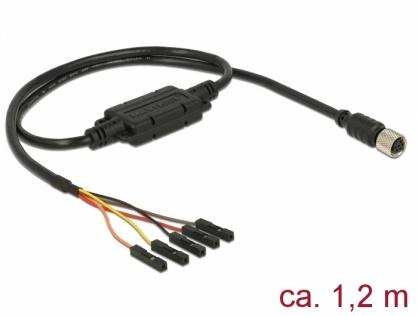 Cablu M8 waterproof la jack 5 pini pitch 2.54 mm TTL, Navilock 62891