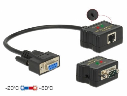 Extender RS-232 DB9 1200m prin cablu RJ45 cu protectie EDS, Delock 63934