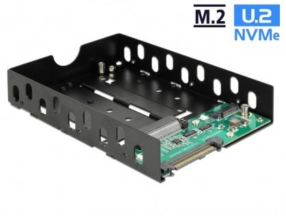 """Convertor U.2 SFF-8639 la M.2 NVMe Key M / U.2 SFF-8639 cu frame 3.5"""", Delock 63955"""