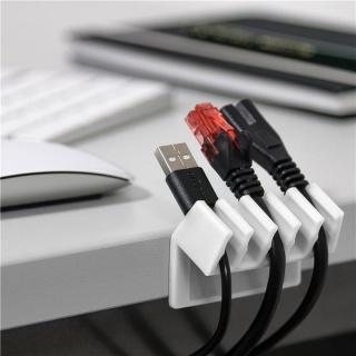 Set 2 bucati organizatoare cablu cu 5 sloturi albe, Goobay 70431