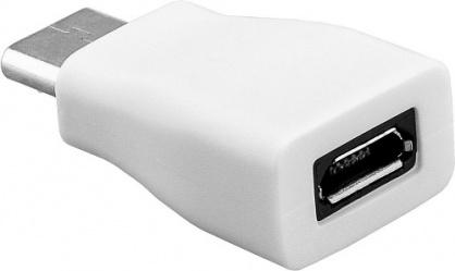 Adaptor USB-C la micro USB-B T-M Alb, Goobay 71398