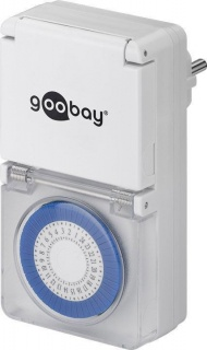 Priza programabila mecanica pentru exterior, Goobay 73289