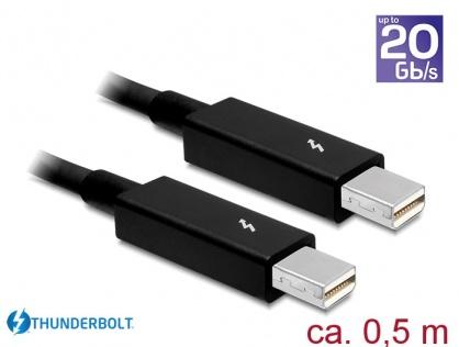 Cablu Thunderbolt 2 T-T 0.5m Negru, Delock 83154