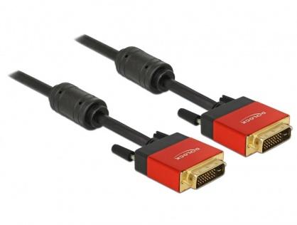 Cablu DVI-D Dual Link 24+1pini ecranat 3m, Delock 85676