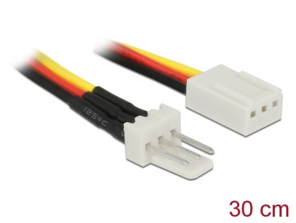 Cablu de alimentare ventilator 3 pini T-M 30cm, Delock 85753