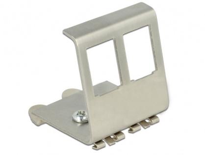 Carcasa de montare Keystone metalica cu 2 porturi pentru DIN rail, Delock 86255