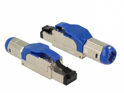 Conector de asamblat RJ45 Cat 8 pentru fir solid metalic, Delock 86487