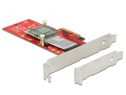 PCI Express x4 la 1 x NVMe M.2 Key M 110 mm cu radiator, Delock 89577