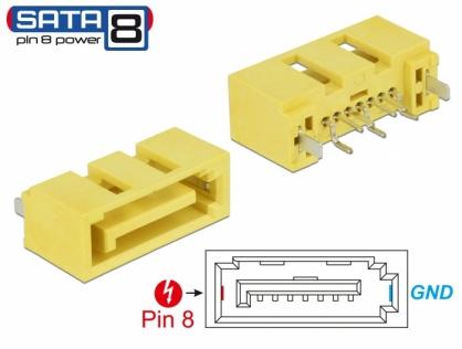 Conector de alimentare SATA 6 Gb/s 8 pini tata, Delock 89886