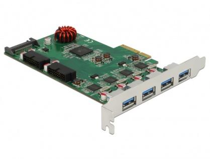 PCI Express cu 4 x USB 3.0-A + 2 x pin header USB 3.0, Delock 90306