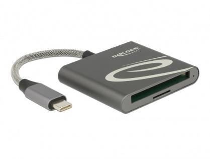 Cititor de carduri USB-C pentru carduri de memorie Compact Flash sau Micro SD, Delock 91744