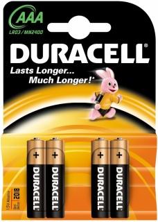 Set 4 baterii AAA Basic LR3, Duracell