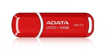 Stick USB 3.1 cu capac 64GB UV150 Rosu, ADATA AUV150-64G-RRD