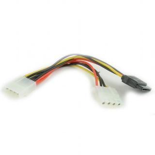 Cablu alimentare Molex la SATA + Molex T-M, Gembird CC-SATA-PSY2