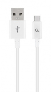 Cablu USB 2.0 la USB-C T-T 1m Alb, Gembird CC-USB2P-AMCM-1M-W