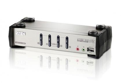 Distribuitor KVMP 4 porturi PS/2-USB cu OSD, ATEN CS1734B