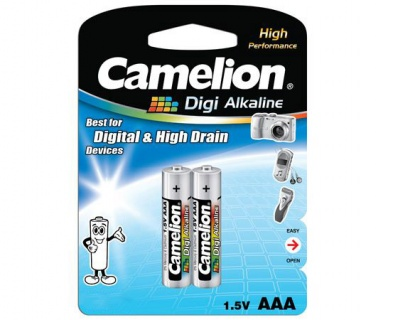 Blister 2 baterii alcaline Camelion DIGI AAA LR3