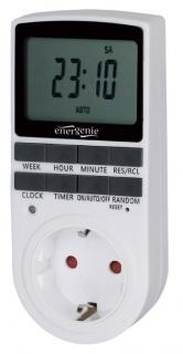 Priza programabila cu timer 16A LCD, Gembird EG-SST-01