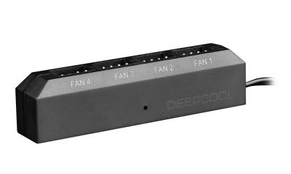Adaptor (HUB) SATA 15 pini la 4 x ventilator 3/4 pini PWM, Deepcool FH-04