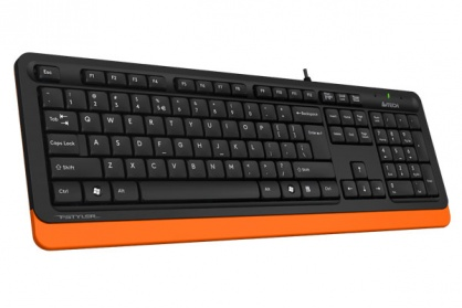 Tastatura A4Tech Fstyler USB Negru/Orange, FK10 Orange