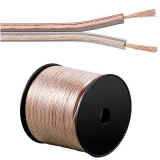 Cablu pentru boxe/difuzor transparent 2 x 4mm 3m 50V
