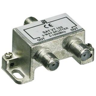 Splitter coaxial (antena tv) 2 porturi 5-1000 MHz