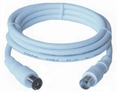 Cablu antena coaxial alb T-M 75 Ohm 15m