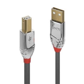 Cablu USB 2.0 tip A la tip B Cromo Line T-T 0.5m, Lindy L36640