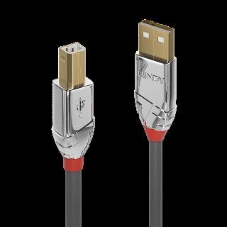 Cablu USB 2.0 tip A la tip B 2m Cromo Line, Lindy L36642