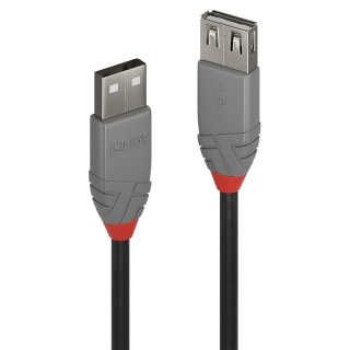 Cablu prelungitor USB 2.0 T-M 5m Anthra Line, Lindy L36705