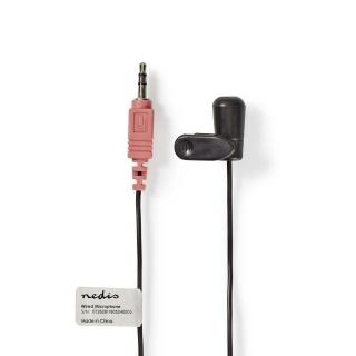 Microfon lavaliera cu clip jack 3.5mm, Nedis