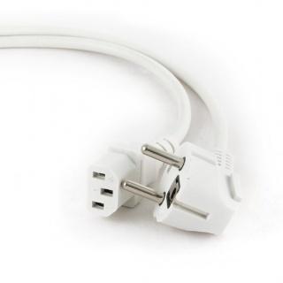 Cablu alimentare PC C13 1.8m Alb, Gembird PC-186W-VDE