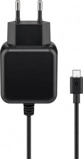 Incarcator priza cu micro USB-B 1m 2.5A pentru Raspberry Pi 1/2/3, Goobay 71889