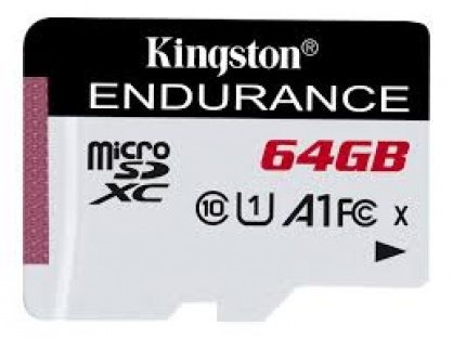 Card de memorie micro SDXC 64GB clasa 10 UHS-I High Endurance, Kingston SDCE/64GB