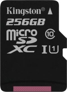 Card de memorie micro SDXC Canvas Select 256GB clasa 10, Kingston SDCS/256GBSP