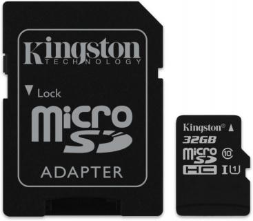 Card de memorie micro SDHC Canvas Select 32GB clasa 10 + adaptor SD, Kingston SDCS/32GB