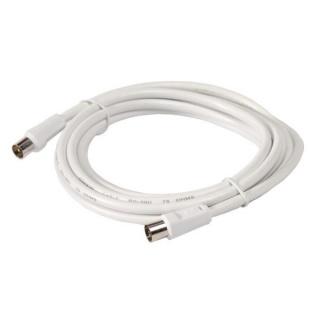 Cablu prelungitor coaxial (antena) RG59 T-M Alb 2m, Spacer SP-PT-COAX-2M