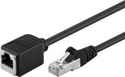 Cablu prelungitor FTP cat 5e RJ45 T-M 5m Negru, 91884