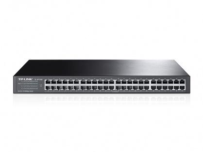 Switch cu 48 porturi 10/100Mbps montabil in Rack, TP-Link TL-SF1048